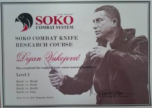 knife course certificate